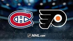 2 Billets Canadiens @ Flyers  24 Oct  2016