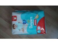 64 pampers nappie pants size 6 new and sealed
