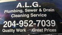 A.L.G. Plumbing,Sewer & Drain Cleaning Specialist