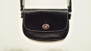 AUTHENTIC ROOTS BLACK LEATHER PURSE