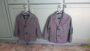 Two adorable grey ring bearer suits fits 2t-4t Sarnia Sarnia Area image 2
