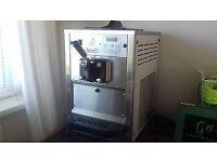 Blue Ice T10 VGC soft ice cream machine. Digital/output 90 cups per hr/200 cones