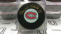 Maurice Richard Signed Montreal Canadiens puck with coa and case