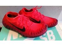 Nike Free 3.0 Flyknit women's trainers- UK SIZE 6.5 US 9, unused new, pink crimson red black sole