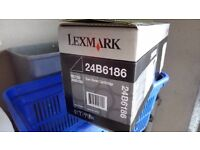 3 genuine lexmark black ink toners
