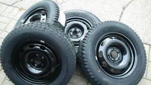 $699 (TAX-IN)- NEW 205/65/R15 Continental / Pirelli winter tires+ Steel rims- Civic/ Camry/ Solara/ Accord/ Mazda3/ Golf