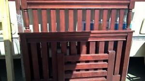 Solid Wood Crib/ Double Bed