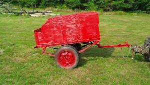 Small Wood/Steel Utility Cart with Trailor Hitch,