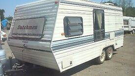 1998 American 6 berth twin axle caravan