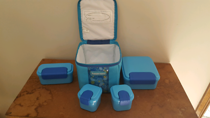 Kids lunch tupperware with cooler bag