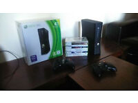 XBOX 360 inc 2 controllers and 9 games
