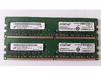 PC DDR3 4GB RAM MEMORY SET (2X2GB)