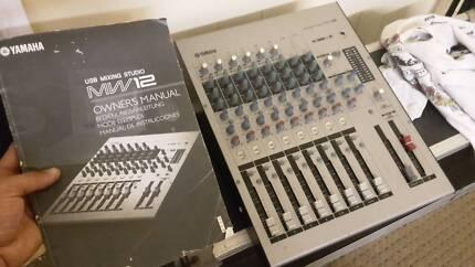 Yamaha MW12 analogue mixer and USB interface