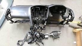 ford focus airbag dash dashboard kit seatbelts module NOT PUSH START 11-14 zetec