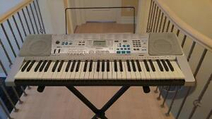 Casio keyboard / Piano with karaoke stand included