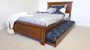 KING SINGLE BED & SINGLE TRUNDLE - SALE - SOLID TIMBER Williamstown Hobsons Bay Area Preview