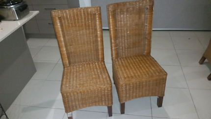 Outdoor cane wicker chairs X2
