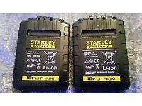 Stanley fatmax charger and 2 batteries