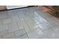 **Kandla Grey Sawn and Honed Sandstone Paving**