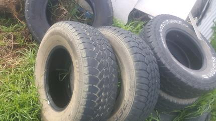 4x4 & Car tyres $5 & commy rims cheap