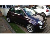 2013 Fiat 500 Lounge (Start/Stop) 3 Door Purple Metallic/Low Mileage/Immaculate