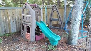 STEP 2 Swingset and Little tykes pirate playhouse