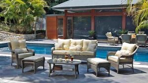 Harvey Norman Outdoor wicker 6 peice lounge setting Mullaloo Joondalup Area Preview