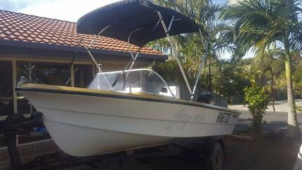 PONGRASS FIBRE GLASS RUNABOUT.... SET UP... NOTHING TO SPEND.