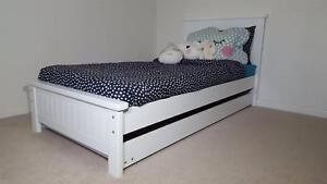 WHITE KING SINGLE BED AND TRUNDLE - SALE PRICE - AUST MADE Williamstown Hobsons Bay Area Preview