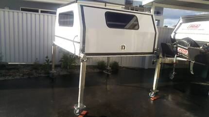 Slide on ute canopy - fitted out for camping