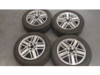 FORD FOCUS MK2 GHIA ALLOYS [SET OF 4 WITH GOOD TYRES]