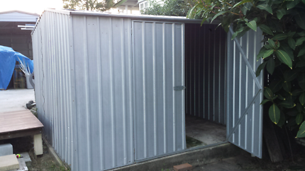 Garden Sheds Brisbane garden shed - plain aluminium finish   sheds & storage   gumtree