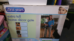First Years Extra Tall Hone Decor Baby Gate