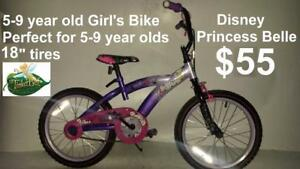 "5-9 year old Girl's Bike 18"" tires perfect for 5-9 year olds Disney Tinker bell"