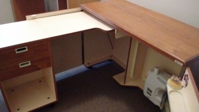 Fold Out Sewing Cabinet and Desk | Cabinets | Gumtree Australia ...