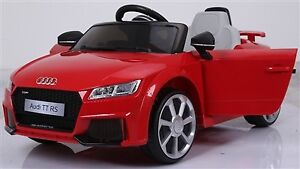 Licensed 12V Audi TT RS Child Ride-On Car with Doors, Remote,