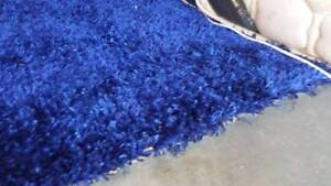 Vibrant Electric Blue Shag Rugs x 2 Yeronga Brisbane South West Preview