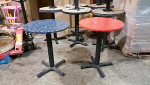 Table bistro, à café, Table haute, en bois - LIQUIDATION