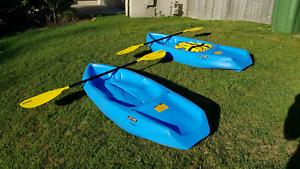 2x Lifetime Wave Pro Kids Kayaks + Burke PFD Coomera Gold Coast North Preview
