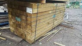 Brown Railway Sleepers - New