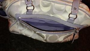 Coach Addison Tricolour Signature Diaper Bag - Purple and Grey