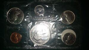 1963 SILVER coin set still in its original packaging from RCM... London Ontario image 2