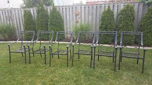 Black patio chairs with cushions Cambridge Kitchener Area image 2
