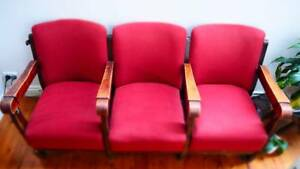 Retro Cinema Chairs - row of 3! ** BARGAIN ** Leichhardt Leichhardt Area Preview