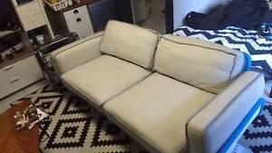IKEA PS 2012 Three-seat sofa - blue/Svanby beige Hunters Hill Hunters Hill Area Preview