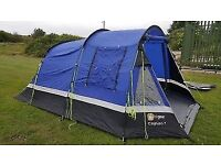 Hi Gear Caplan 5 tent. Includes gas grill/hob and gas bottle.