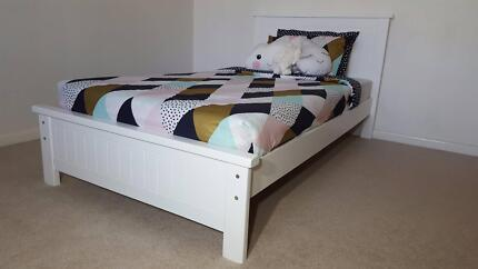 POINT COOK WHITE KING SINGLE BED - AUST MADE - SALE PRICE