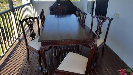 Formal Timber Dining Table And 8 Chairs
