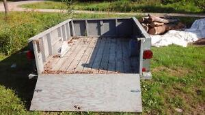 Heavy duty box trailer will hold a cubic cord of wood
