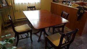 Duncan Phyfe Dinning Table Set (4 chairs)